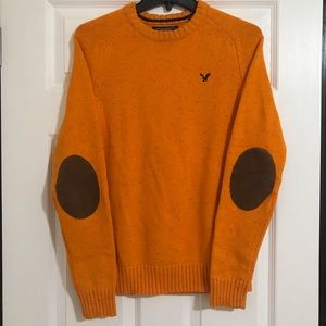 Burnt Orange Knit Crewneck Sweater